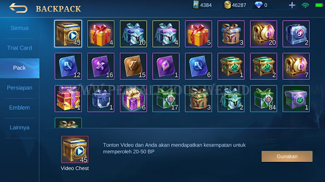 Tonton Video dengan Video Chest