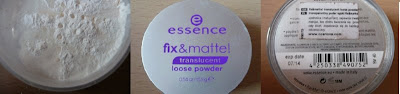 ESSENCE FIX&MATTE transculent loose powder