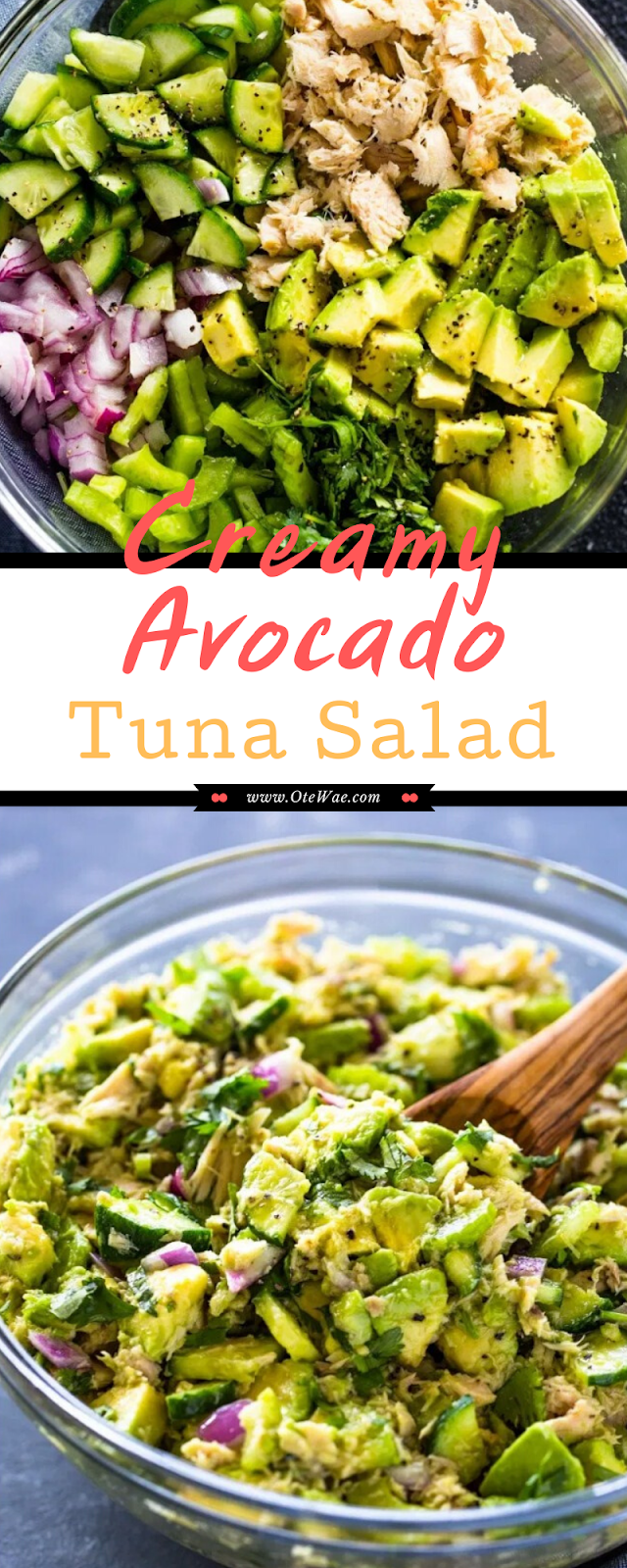 Creamy Avocado Tuna Salad