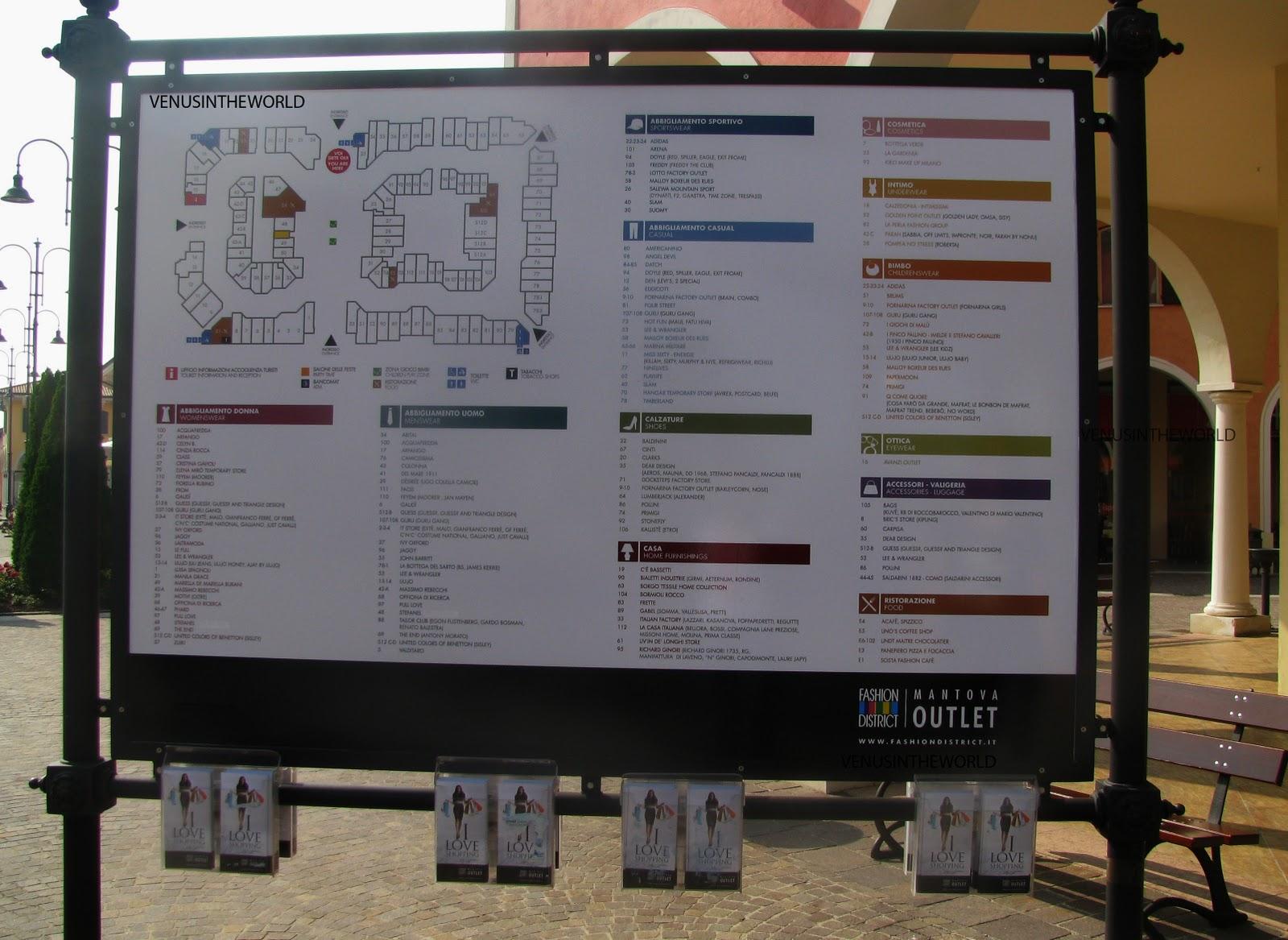 venusintheworld: Mantova Outlet