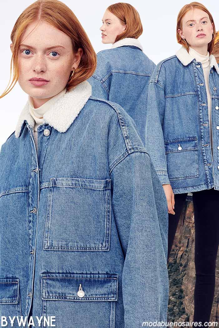 Camperas de mujer de jeans H&M otoño invierno 2021