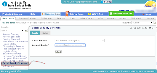 How to Open Atal Pension Yojana (APY) account online in SBI