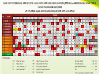 Kalender Pendidikan 2021/2022 Excel