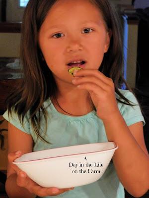 girl eating Zucchini Chips