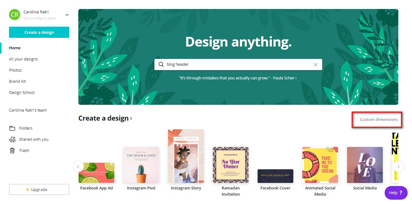 Cara Membuat Banner Dan Header Untuk Blog Dengan Canva Yang Oke Carolina Ratri