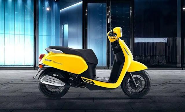 motor-matik-murah-2021-Benelli-Panarea-desain-retro