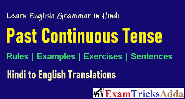 Past Continuous Tense in Hindi - Complete Rules, Examples, Sentences & Exercises