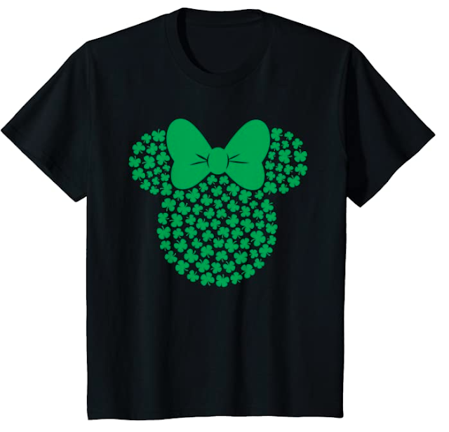 Women and Kids Minnie Shamrock Shirt