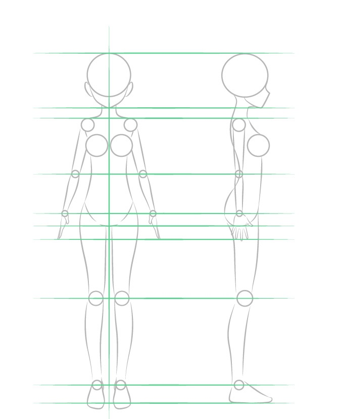 Cara Menggambar Anime Girl Body Langkah Demi Langkah Anidraw