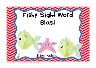 Fishy Blast Sight Words FREEBIE