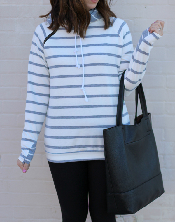 simple addiction, black exclusive leggings, double striped hoodie, style on a budget, north carolina blogger, mom style, athleisure