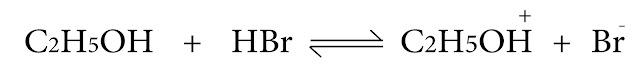 تفاعل الأغوال مع HX لتعطي هاليدات الألكيل