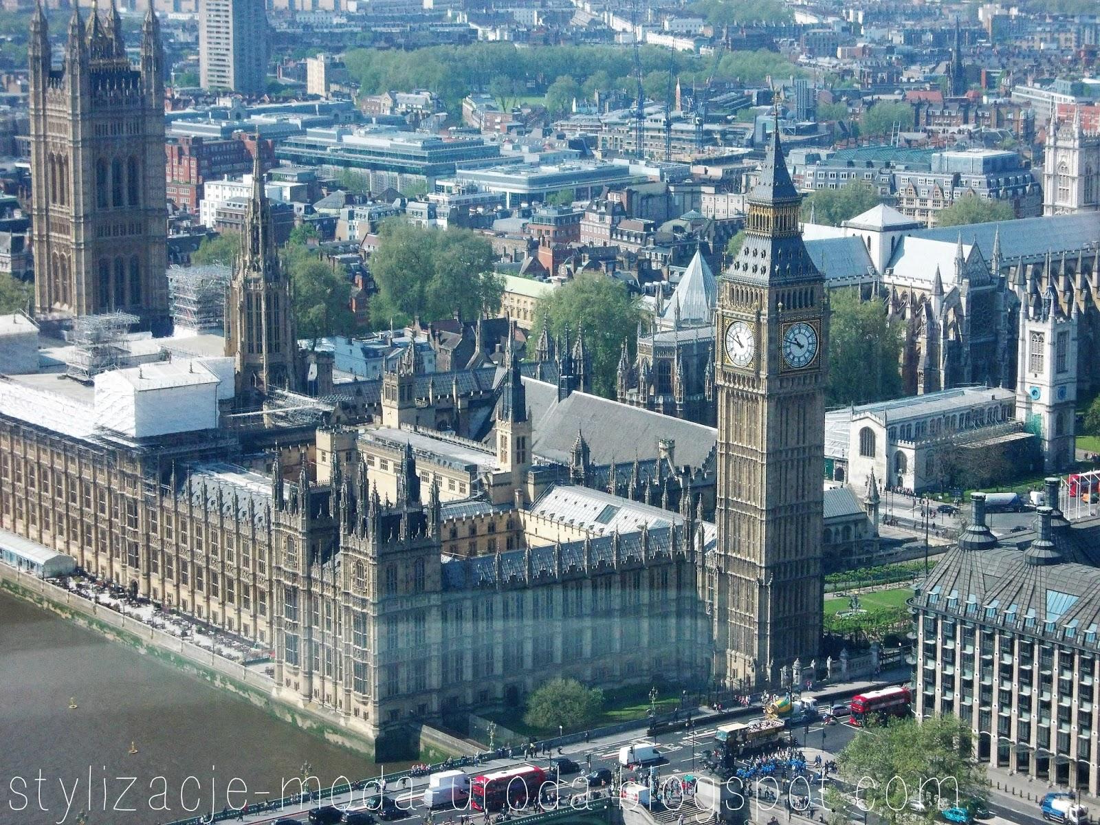 London Eye z góry
