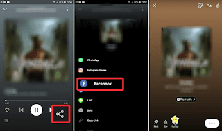 A Simple Way to Share songs from Spotify to Facebook Story