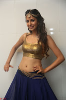 Malvika Raaj in Golden Choli and Skirt at Jayadev Pre Release Function 2017 ~  Exclusive 053.JPG
