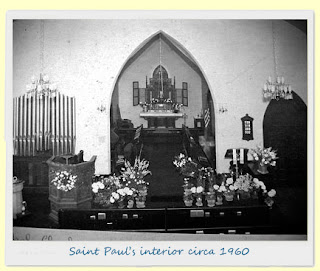 Saint Pauls interior circa 1960