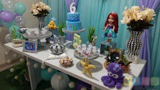Decoração festa infantil A pequena Sereia Ariel