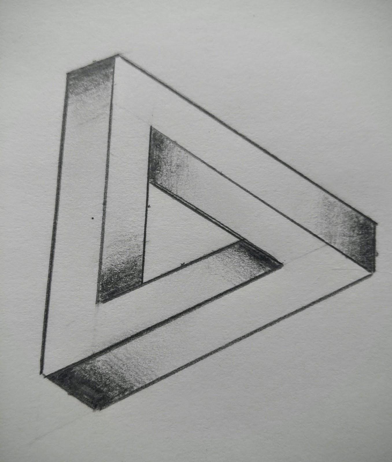 иллюзия рисунки карандашом для начинающих поэтапно должен