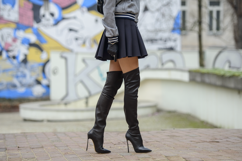 over the knee Casadei boots blade