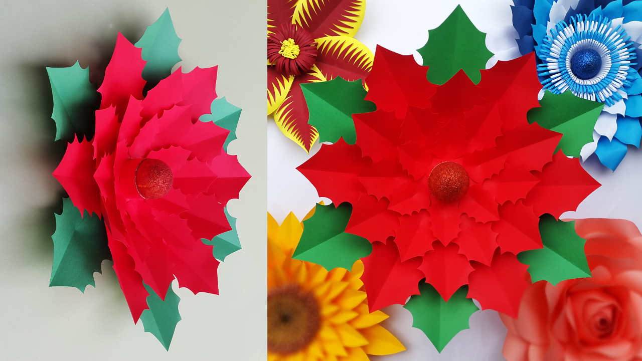 How to make an origami christmas flower, poinsettia: page 12 | 720x1280