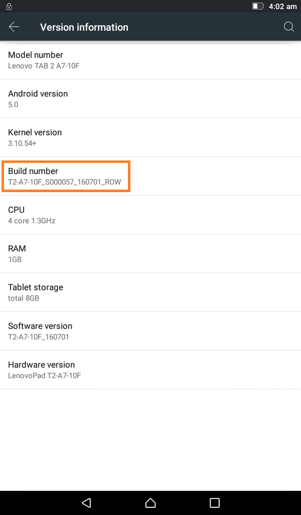 bk mobile zone: Lenovo Tab 2 A7-10F Firmware Flash File