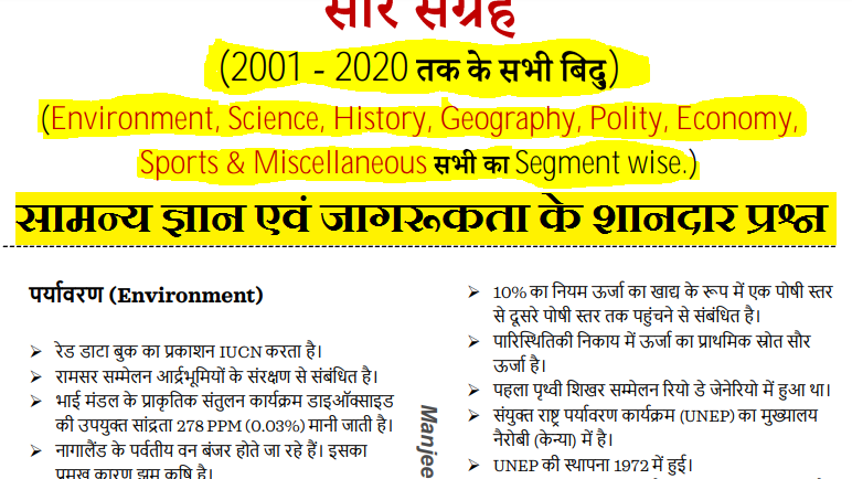 3500+ very important GK Questions in Hindi PDF