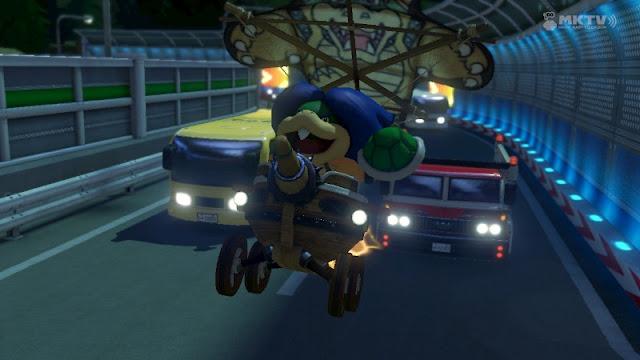 Mario Kart 8 Toad Turnpike traffic Ludwig Landship