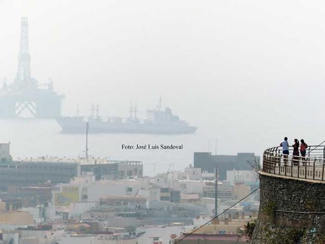 La fuerte calima  entra en Canarias con el nuevo año 2020