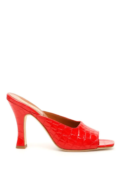 Red Leather Crocodile Printed Patent Shoes (RMNOnline.net)