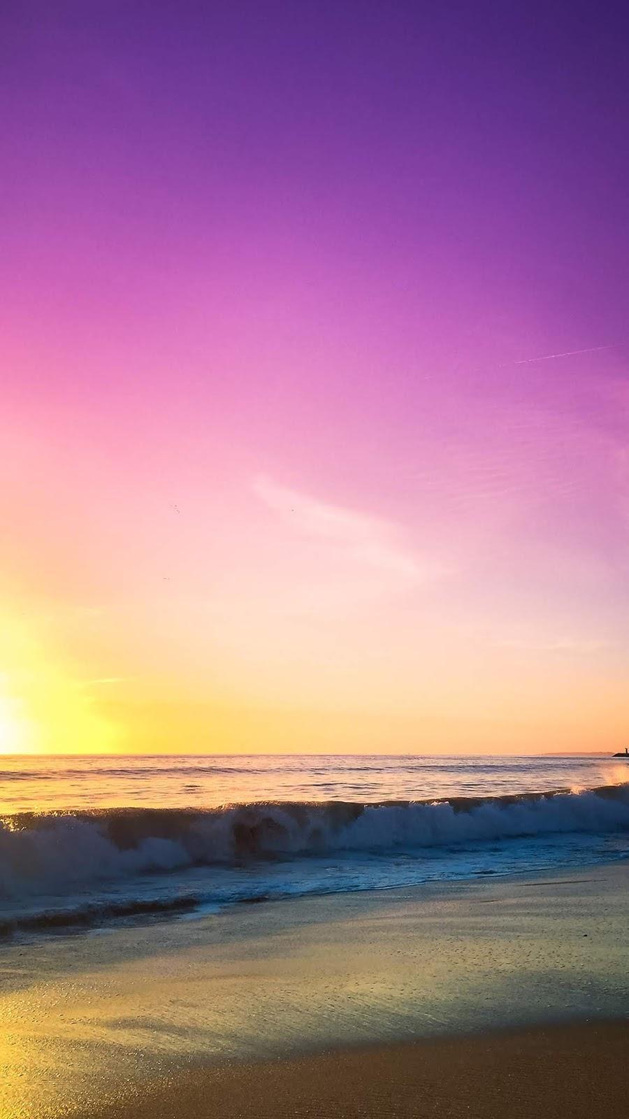 Beach in the twilight