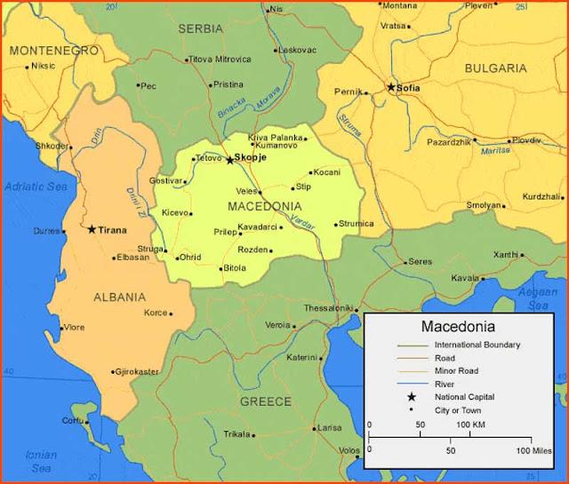 Gambar Peta Makedonia