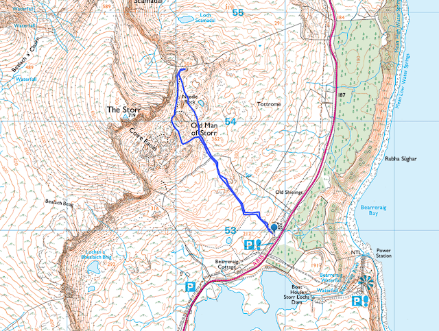 Old Man of Storr Walk map route best view