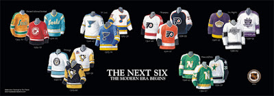 The Next Six jerseys NHL poster