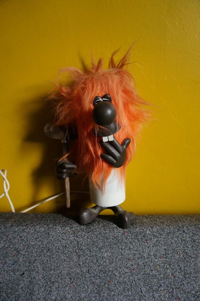 70s weird caveman lamp années 70 1970s lampe