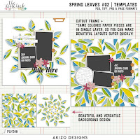 template : Spring Leaves 02 by Akizo Designs