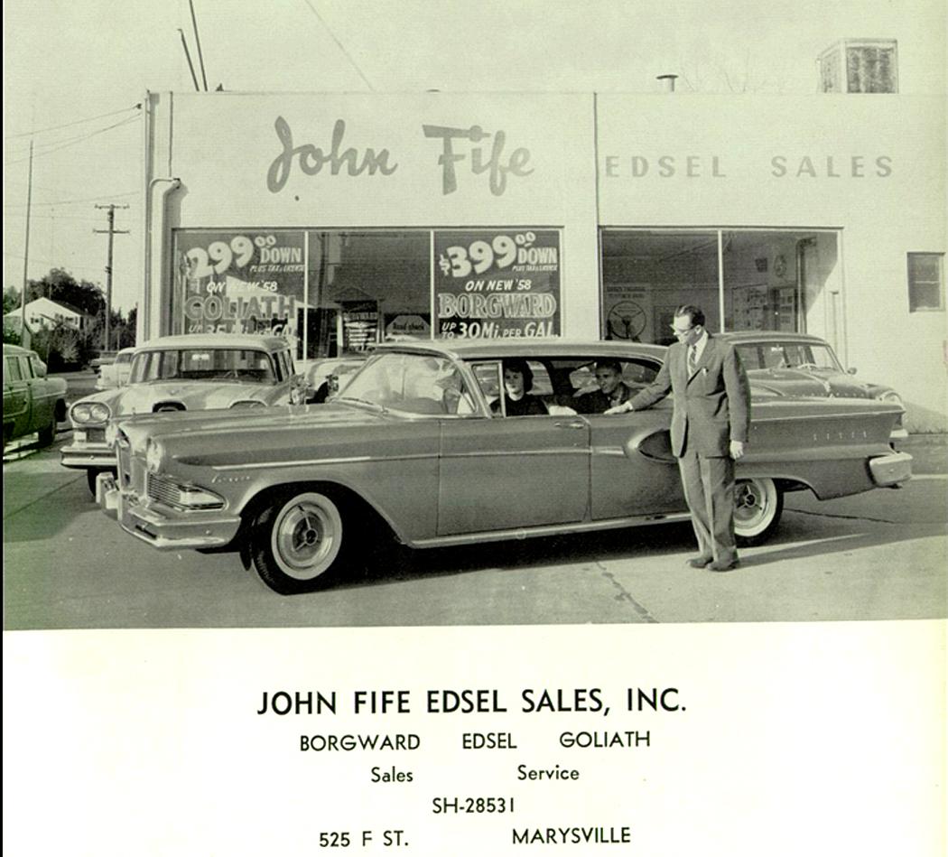 Annualmobiles John Fife Edsel Sales