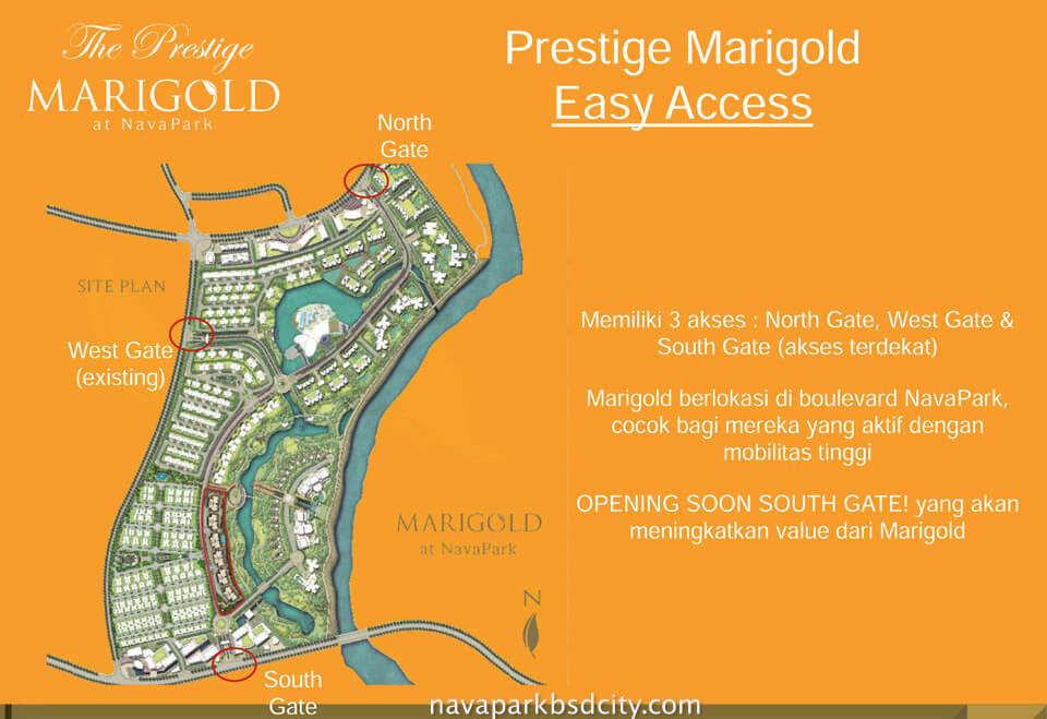Akses Jalan Menuju Marigold @ Navapark BSD