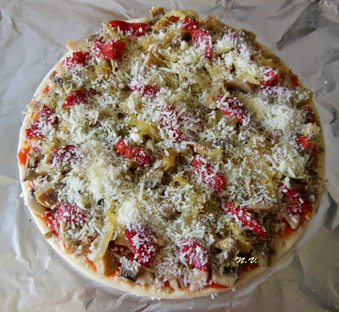PIZZA POLLO Y CHAMPI 4