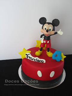 Bolo com o Mickey para o 4º aniversário do Francisco