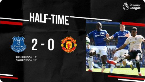 HT: Everton vs Manchester United 2-0 Highlights