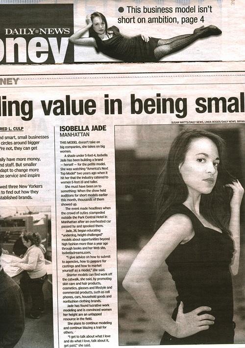 Isobella Jade's Petite Modeling Tips: June 2011