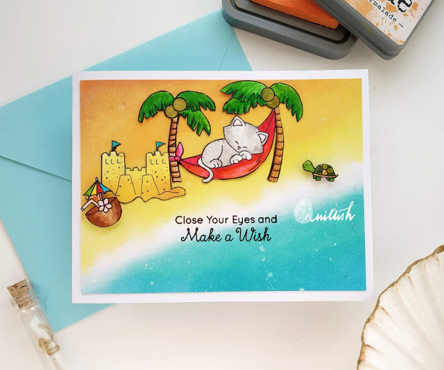 Close your eyes by Ishani features Aloha Newton by Newton's Nook Designs; #newtonsnook