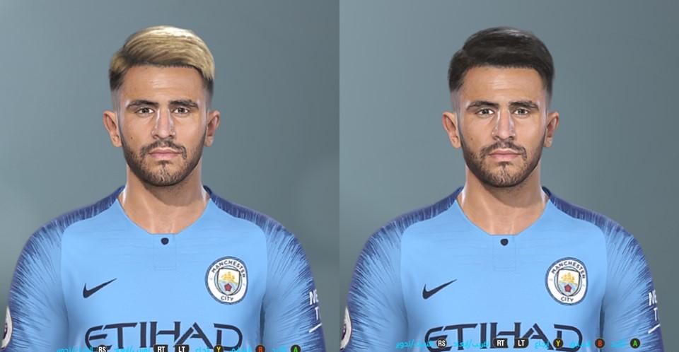 ultigamerz: PES 2019 Riyad Mahrez (Manchester City) Face