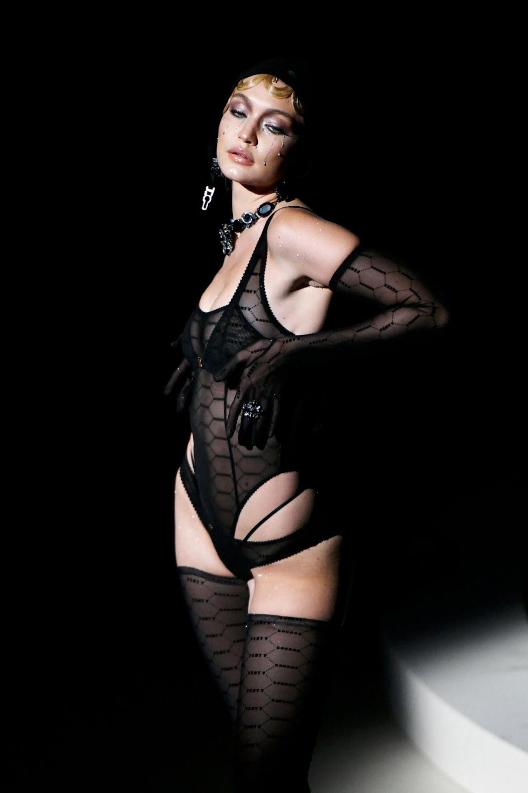 Gigi Hadid in Rihanna's Savage X Fenty show