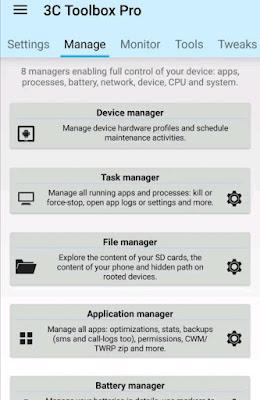 Tampilan aplikasi 3c All-in-One