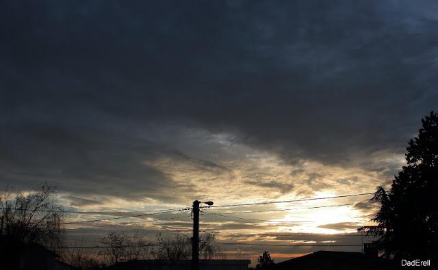 Un ciel de matin d'hiver