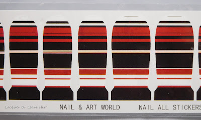 Charlie's Nail Art Black Colour Stripe nail decals