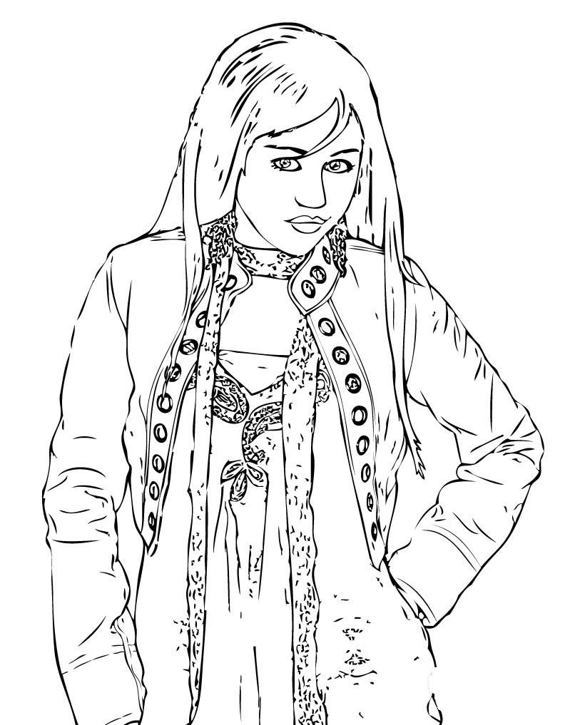 hannan montana coloring pages | Beautifull Disney Hannah Montana Coloring Pages