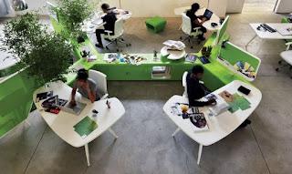 Thiết kế màu sắc hợp lý làm văn phòng thêm chuyên nghiệp