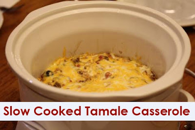Slow Cooked Tamale Casserole from Lynn's Kitchen Adventures found on SlowCookerFromScratch.com